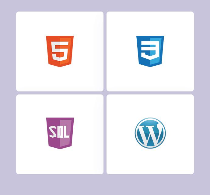 image representant des logo de logiciel de création de site internet